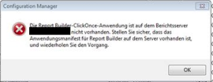 Report Builder ClickOnce fehlt