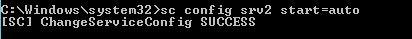 reconfigure service